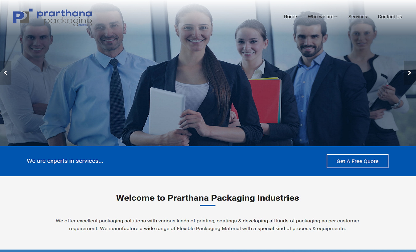 Prarthana Packaging Home